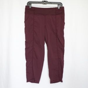 Lucy Activewear Burgandy Cropped Jogger Pants M